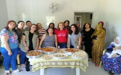 Lebanese and Syrian women in the kitchen!
